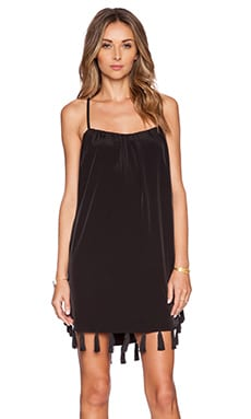 Assali Coy Mini Dress in Black