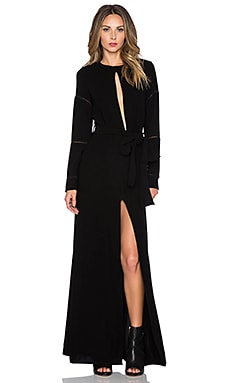 Assali Quizotic Maxi Dress in Black