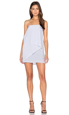 Wave Mini Dress in Cloud Grey
