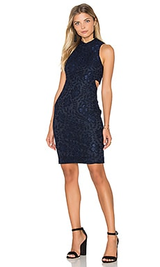 Nina Mini Dress in Navy Blue