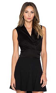 Assali Cash Coeur Top in Black