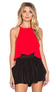 Assali Blush Crop Top in Apple Red
