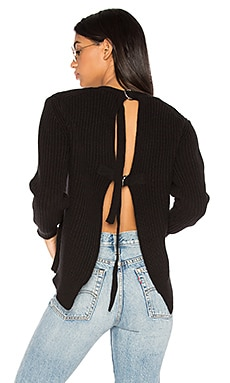 Liv Back Buckle Sweater in Black