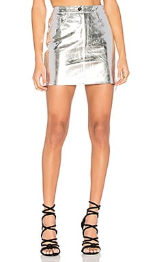 Kaia Skirt in Metallic Silver