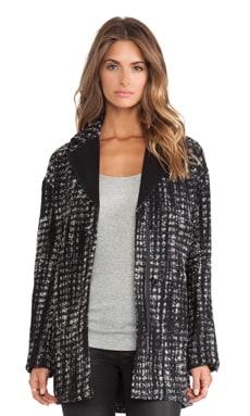 AB Briana Herringbone Jacket in Black & White