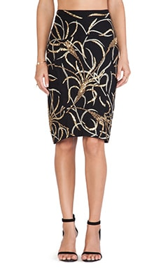 Antik Batik Madura Sequin Skirt in Black