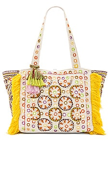 Kinocabas Tote Bag in Cream & Yellow