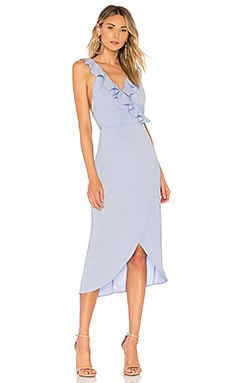 Pia Ruffle Midi Dress superdown $74