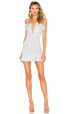 Makenzie Marrow Ruffle Edge Zip Dress About Us $40