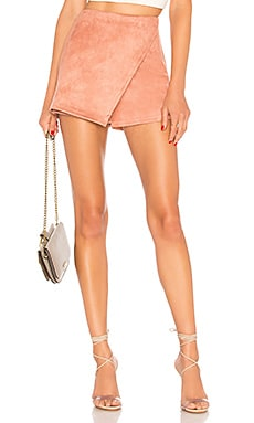 Addy Faux Suede Skort About Us $48