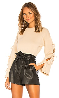 Michelle Tie Sleeve Sweater About Us $62
