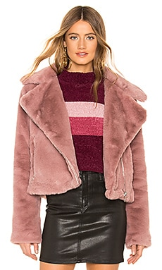 Sophie Faux Fur Moto About Us $69