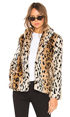 Roxy Faux Fur Leopard Coat superdown $110 BEST SELLER