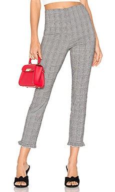 Josephine Plaid Ruffle Pants About Us $41
