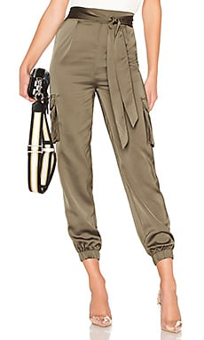 Rachel Satin Cargo Pants About Us $70