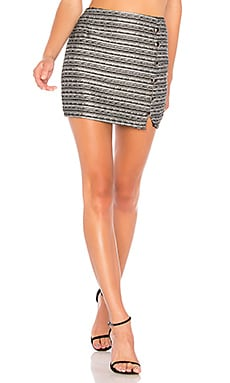 Amy Button Up Mini Skirt About Us $33