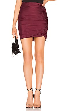 Ava Ruched Mini Skirt About Us $42