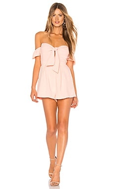 Dayana Tie Front Off Shoulder Romper superdown $66