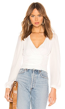 Sasha Wrap Top superdown $52