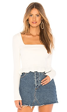 Priscilla Ribbed Top superdown $54