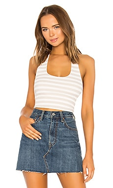 Nikki Ribbed Halter Crop Top superdown $20