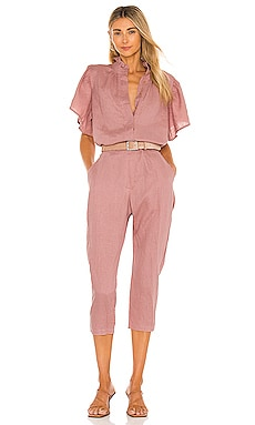 Donny Linen Jumpsuit ACACIA $275 Sustainable