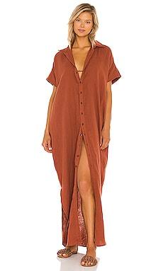 Oahu Cotton Gauze Dress ACACIA $198