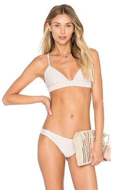 Acacia Swimwear Mesh Awapui Bikini Top in Foam