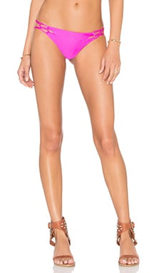 Acacia Swimwear Molokini Bikini Bottom in Guava Pop