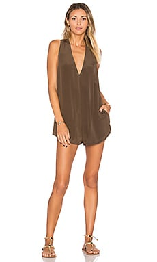 Haiku Silk Romper in Opihi