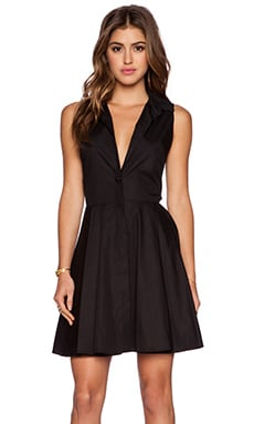a.c.e Jules Pleated Dress in Black