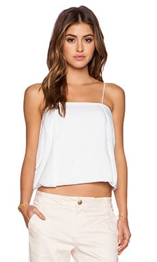 a.c.e Olivia Pleated Tank in White