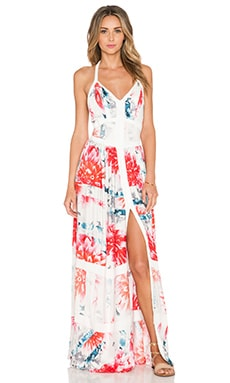 YFB CLOTHING Iman Maxi Dress in Tangerine