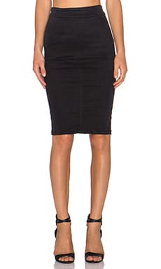 YFB CLOTHING Shana Skirt in Black
