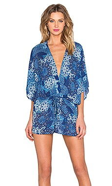 YFB CLOTHING Alma Romper in Blueberry