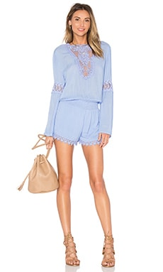 YFB CLOTHING Lise Romper in Periwinkle
