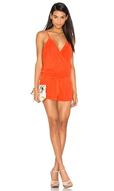 Recess Romper in Fire Red