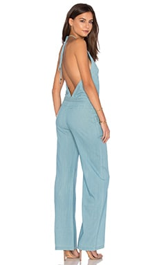 YFB CLOTHING Abbot Jumpsuit in Light Wash
