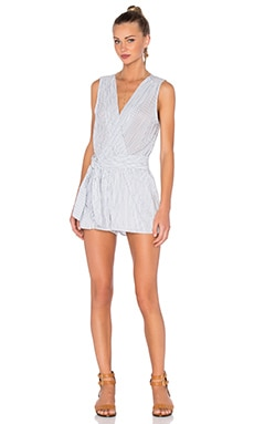 YFB CLOTHING Wave Romper in White