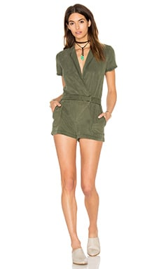 Tux Romper in Palm
