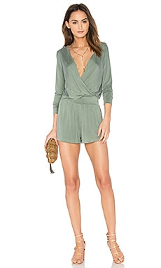 Blair Romper in Olive Green