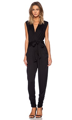 YFB Clothing Draped Jumpsuit in Black