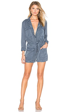 Leone Romper in Light Navy