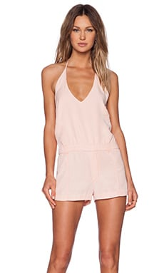 YFB CLOTHING Jules Romper in Pink Sand