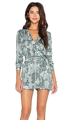 YFB CLOTHING Tibby Romper in Teal Floral