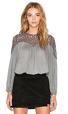 YFB CLOTHING Brynne Blouse in Storm