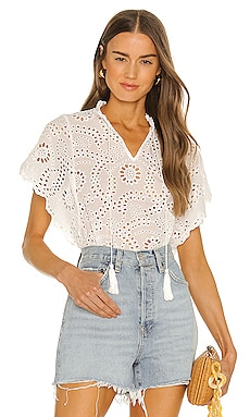 Issey Eyelet Top YFB CLOTHING $150 BEST SELLER