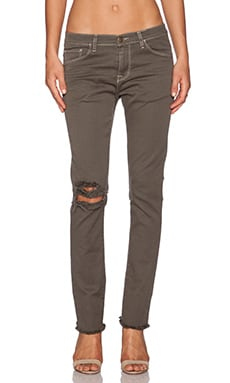 Acquaverde Gisele Raw Crop Skinny in Seawood