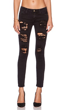Acquaverde Scarlett Skinny in Black Super Destroy