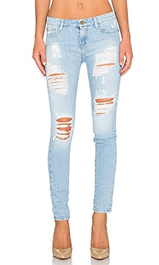 Acquaverde Skinny Jean in Super Destroy